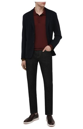 Мужские кожаные оксфорды SANTONI коричневого цвета, арт. MGMB17484BARECDWS52 | Фото 2 (Стили: Классический; Материал внутренний: Натуральная кожа)