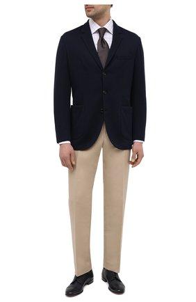 Мужские кожаные дерби H`D`S`N BARACCO темно-синего цвета, арт. 71203.C.2*   Фото 2