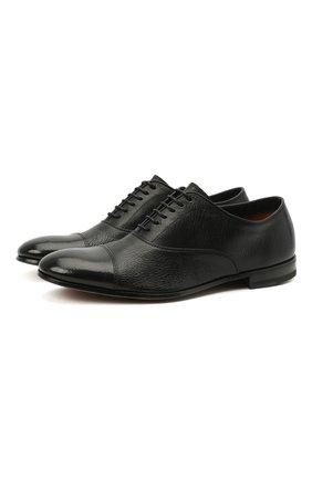 Мужские кожаные оксфорды H`D`S`N BARACCO черного цвета, арт. 71301.C.0* | Фото 1