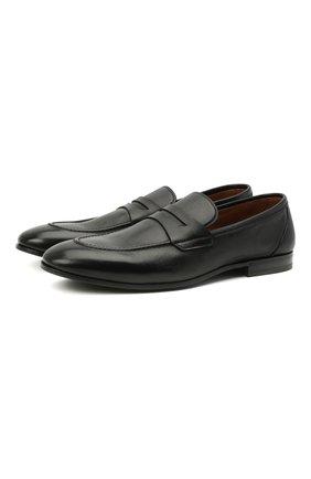 Мужские кожаные пенни-лоферы H`D`S`N BARACCO черного цвета, арт. 71402.P.2* | Фото 1 (Материал внутренний: Натуральная кожа; Стили: Классический; Мужское Кросс-КТ: Лоферы-обувь)