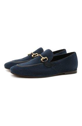 Мужские замшевые лоферы H`D`S`N BARACCO темно-синего цвета, арт. 71408.3* | Фото 1 (Материал внутренний: Натуральная кожа; Мужское Кросс-КТ: Лоферы-обувь; Стили: Классический; Материал внешний: Замша)