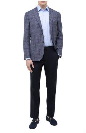 Мужские замшевые лоферы H`D`S`N BARACCO темно-синего цвета, арт. 71408.3* | Фото 2 (Материал внутренний: Натуральная кожа; Мужское Кросс-КТ: Лоферы-обувь; Стили: Классический; Материал внешний: Замша)