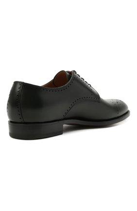 Мужские кожаные дерби KITON темно-зеленого цвета, арт. USSDECHN00101   Фото 4 (Мужское Кросс-КТ: Броги-обувь; Материал внутренний: Натуральная кожа; Стили: Классический)