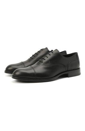 Мужские кожаные оксфорды TOD'S черного цвета, арт. XXM01E00N50D90 | Фото 1
