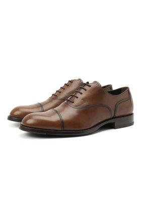 Мужские кожаные оксфорды TOD'S коричневого цвета, арт. XXM01E00N50D9C   Фото 1
