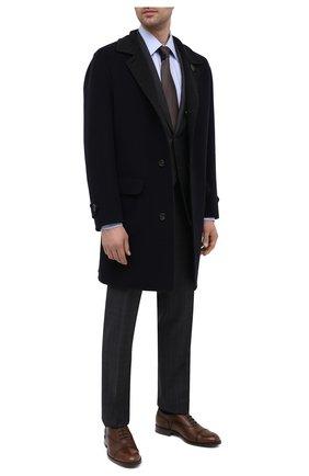 Мужские кожаные оксфорды TOD'S коричневого цвета, арт. XXM01E00N50D9C   Фото 2