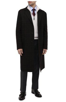 Мужские кожаные монки TOD'S черного цвета, арт. XXM01E0EA30AKT | Фото 2 (Материал внутренний: Натуральная кожа; Стили: Классический)