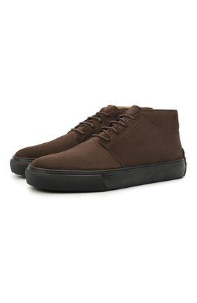 Мужские замшевые ботинки TOD'S темно-коричневого цвета, арт. XXM03E0EA50RE0 | Фото 1