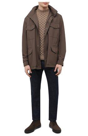 Мужские замшевые ботинки TOD'S темно-коричневого цвета, арт. XXM03E0EA50RE0 | Фото 2