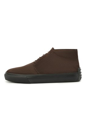 Мужские замшевые ботинки TOD'S темно-коричневого цвета, арт. XXM03E0EA50RE0 | Фото 3 (Мужское Кросс-КТ: Ботинки-обувь; Материал внутренний: Натуральная кожа; Подошва: Массивная; Материал внешний: Замша)