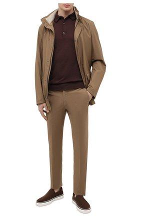 Мужские замшевые слипоны TOD'S темно-коричневого цвета, арт. XXM03E0EB50RE0   Фото 2 (Материал внутренний: Натуральная кожа; Стили: Кэжуэл; Материал внешний: Замша)