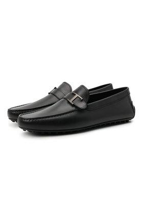 Мужские кожаные мокасины TOD'S черного цвета, арт. XXM42C0CV80D90 | Фото 1