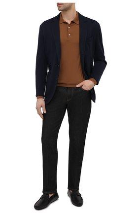 Мужские кожаные мокасины TOD'S черного цвета, арт. XXM42C0CV80D90 | Фото 2