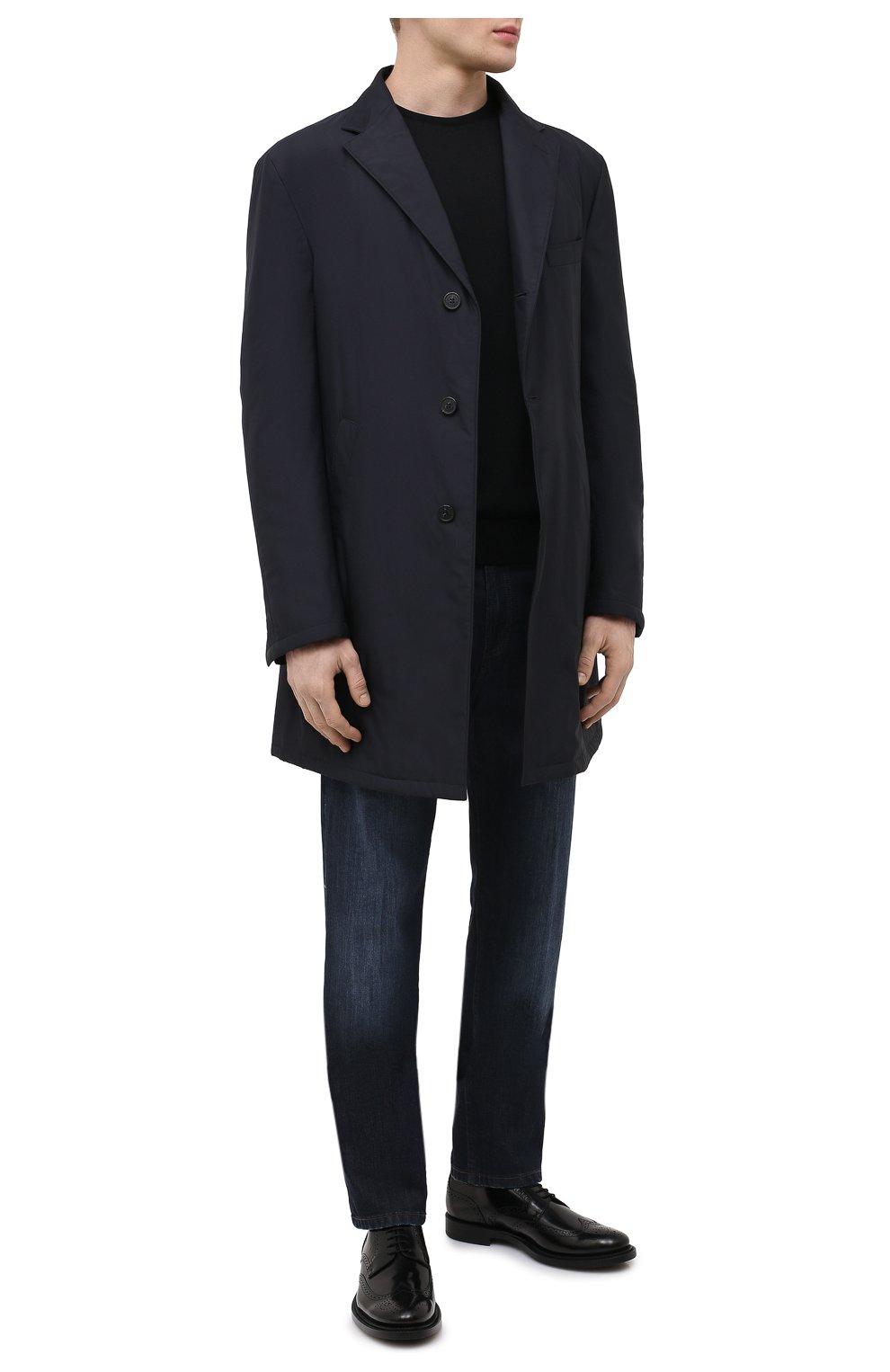 Мужские кожаные дерби TOD'S черного цвета, арт. XXM62C00C10AKT | Фото 2 (Материал внешний: Кожа; Мужское Кросс-КТ: Броги-обувь; Материал внутренний: Натуральная кожа; Стили: Классический)