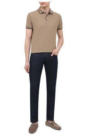 Мужские кожаные мокасины TOD'S бежевого цвета, арт. XXM64C006406RN | Фото 2