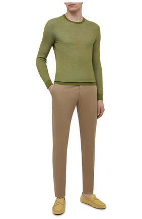 Мужские кожаные мокасины TOD'S желтого цвета, арт. XXM64C006406RN | Фото 2