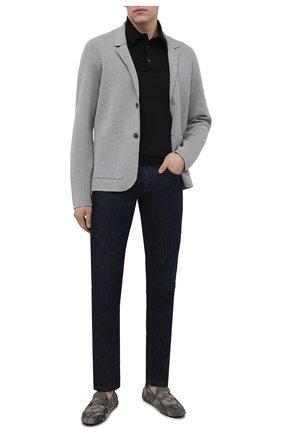 Мужские кожаные мокасины TOD'S хаки цвета, арт. XXM64C00640PKP | Фото 2 (Материал внутренний: Натуральная кожа; Стили: Кэжуэл)