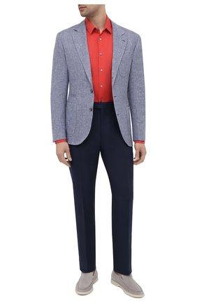 Мужские льняные брюки RALPH LAUREN темно-синего цвета, арт. 798830244 | Фото 2