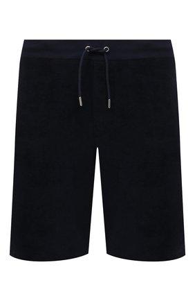Мужские хлопковые шорты RALPH LAUREN темно-синего цвета, арт. 790786107   Фото 1 (Материал внешний: Хлопок; Принт: Без принта; Стили: Кэжуэл; Длина Шорты М: До колена; Кросс-КТ: Спорт)