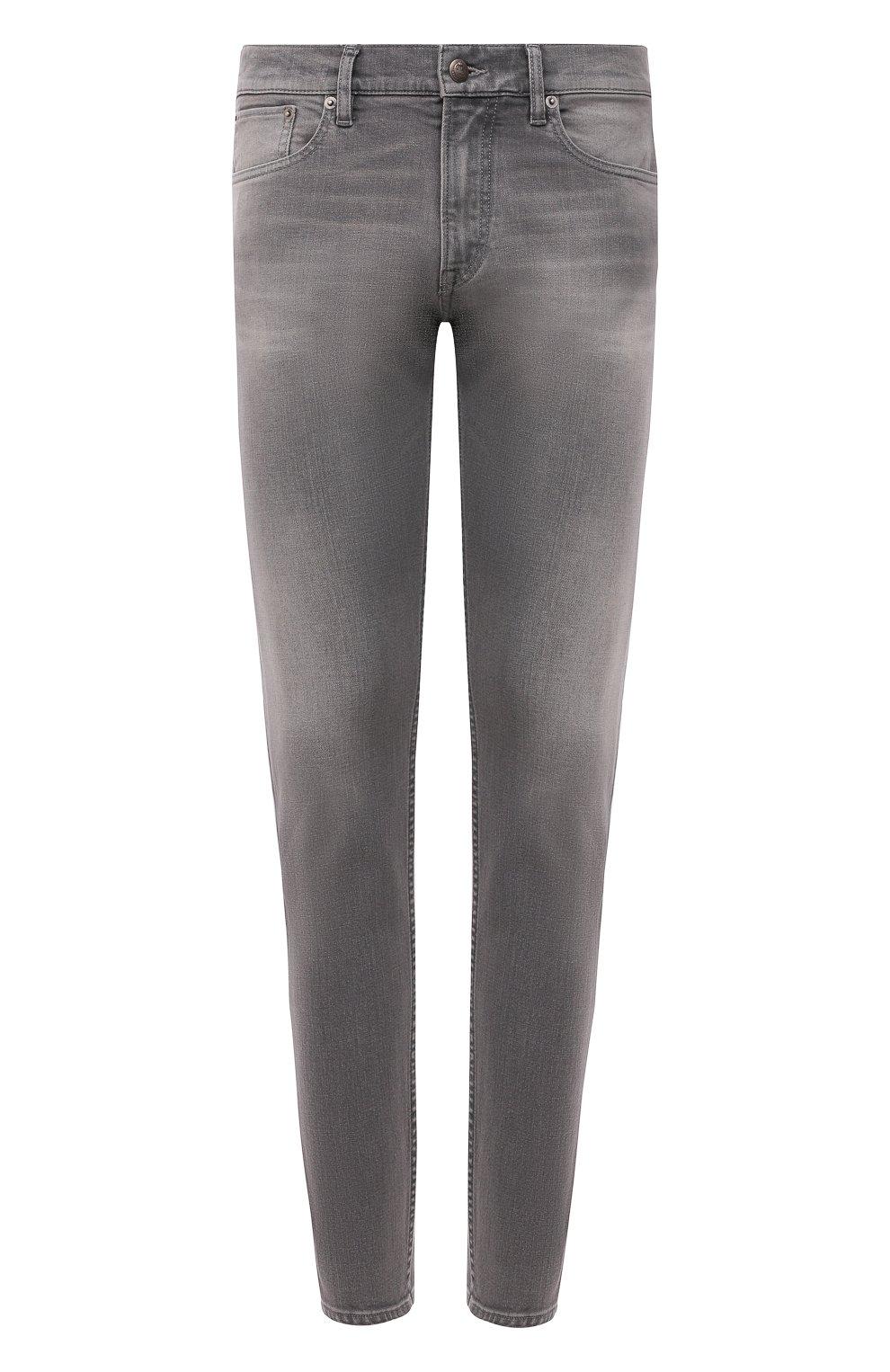 Мужские джинсы RALPH LAUREN светло-серого цвета, арт. 790782453 | Фото 1 (Силуэт М (брюки): Прямые; Кросс-КТ: Деним; Длина (брюки, джинсы): Стандартные; Материал внешний: Хлопок; Детали: Потертости; Стили: Кэжуэл)