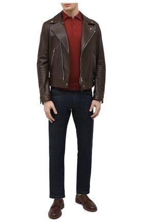 Мужские кожаные дерби BRUNELLO CUCINELLI коричневого цвета, арт. MZUCSLK938 | Фото 2 (Стили: Классический; Материал внутренний: Натуральная кожа)