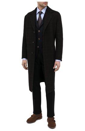 Мужские замшевые монки BRUNELLO CUCINELLI коричневого цвета, арт. MZUNETU896 | Фото 2 (Материал внутренний: Натуральная кожа; Материал внешний: Замша; Стили: Классический)
