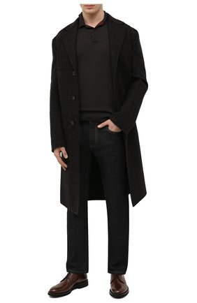 Мужские кожаные дерби BRUNELLO CUCINELLI темно-коричневого цвета, арт. MZUVRNK910 | Фото 2