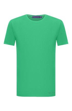 Мужская хлопковая футболка RALPH LAUREN зеленого цвета, арт. 790508153   Фото 1