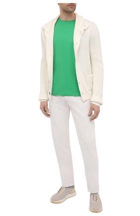 Мужская хлопковая футболка RALPH LAUREN зеленого цвета, арт. 790508153   Фото 2