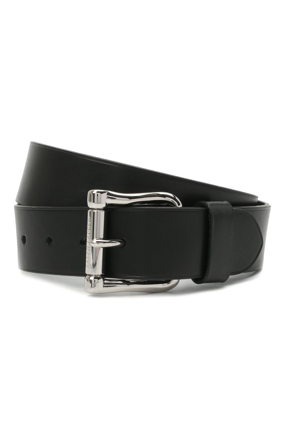 Мужской кожаный ремень RALPH LAUREN черного цвета, арт. 404141603 | Фото 1