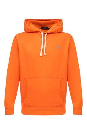 Мужской худи POLO RALPH LAUREN оранжевого цвета, арт. 710766778   Фото 1 (Материал внешний: Синтетический материал, Хлопок; Рукава: Длинные; Длина (для топов): Стандартные; Принт: Без принта; Мужское Кросс-КТ: Худи-одежда; Стили: Спорт-шик)