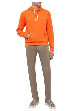 Мужской худи POLO RALPH LAUREN оранжевого цвета, арт. 710766778   Фото 2 (Материал внешний: Синтетический материал, Хлопок; Рукава: Длинные; Длина (для топов): Стандартные; Принт: Без принта; Мужское Кросс-КТ: Худи-одежда; Стили: Спорт-шик)