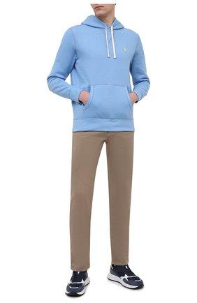 Мужской худи POLO RALPH LAUREN голубого цвета, арт. 710766778 | Фото 2 (Материал внешний: Хлопок, Синтетический материал; Принт: Без принта; Длина (для топов): Стандартные; Мужское Кросс-КТ: Худи-одежда; Рукава: Длинные; Стили: Спорт-шик)