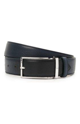 Мужской кожаный ремень DOUCAL'S темно-синего цвета, арт. DC0001I0TAUF0539B04 | Фото 1