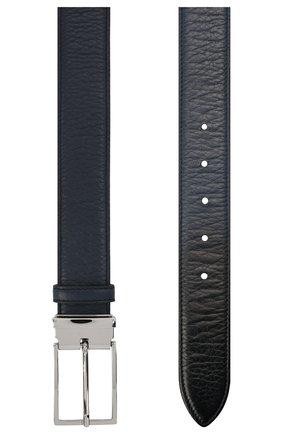 Мужской кожаный ремень DOUCAL'S темно-синего цвета, арт. DC0001I0TAUF0539B04 | Фото 2
