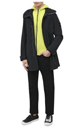 Мужской хлопковый кардиган STONE ISLAND светло-зеленого цвета, арт. 7415523B0 | Фото 2 (Стили: Кэжуэл; Материал внешний: Хлопок; Рукава: Длинные; Длина (для топов): Стандартные; Мужское Кросс-КТ: Кардиган-одежда)