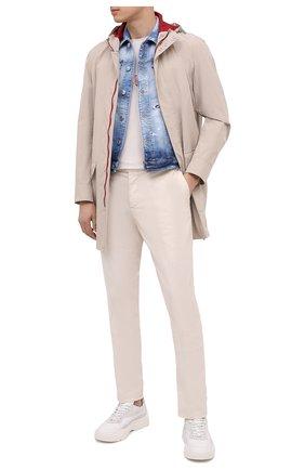 Мужской джинсовый жилет DSQUARED2 темно-синего цвета, арт. S74FB0270/S30342 | Фото 2 (Кросс-КТ: Деним; Стили: Гранж; Длина (верхняя одежда): Короткие; Материал внешний: Хлопок)