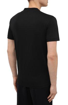 Мужская хлопковая футболка DSQUARED2 черного цвета, арт. S74GD0829/S22427   Фото 4 (Рукава: Короткие; Длина (для топов): Стандартные; Стили: Гранж; Принт: С принтом; Материал внешний: Хлопок)