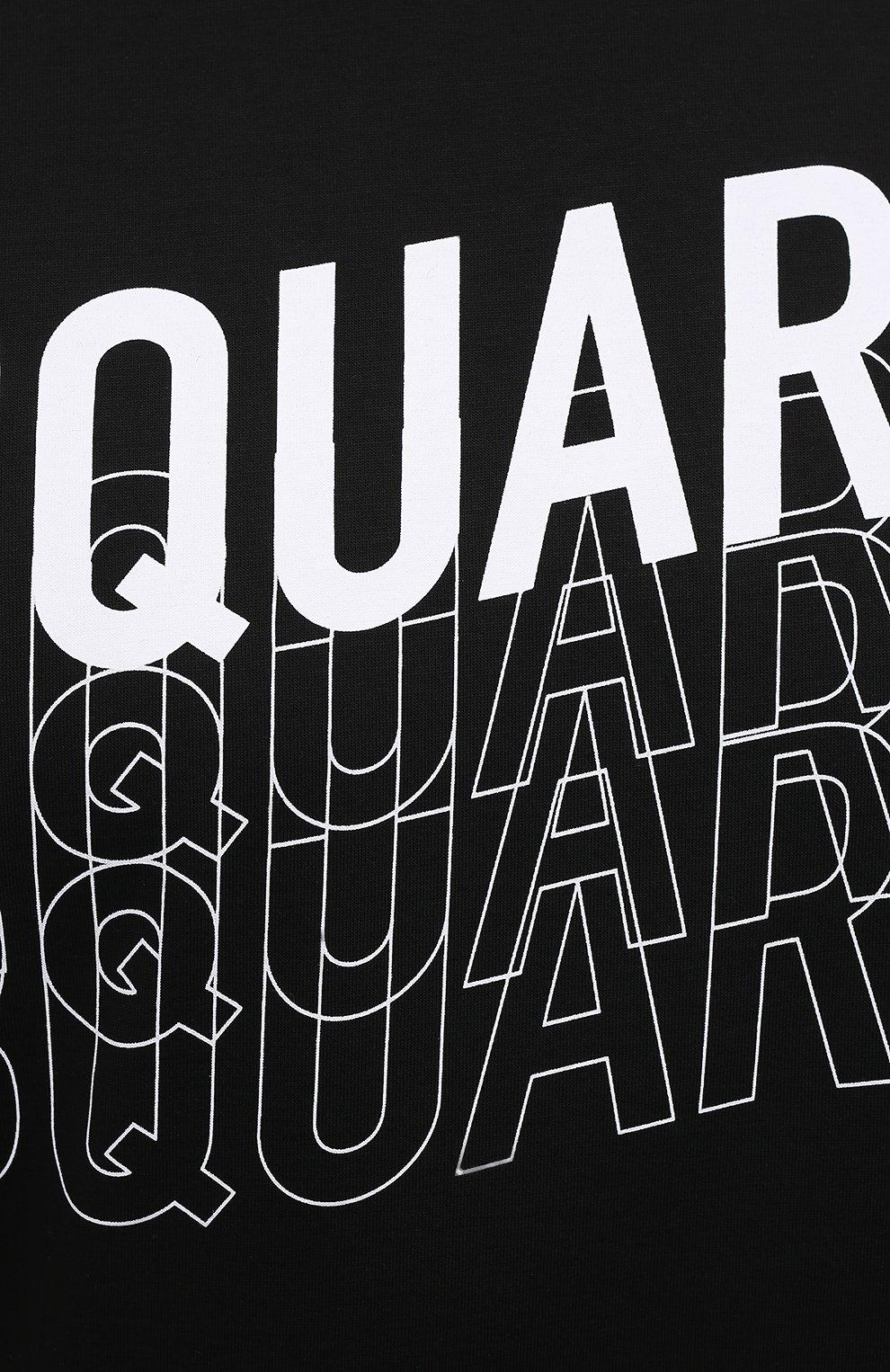 Мужская хлопковая футболка DSQUARED2 черного цвета, арт. S74GD0829/S22427   Фото 5 (Рукава: Короткие; Длина (для топов): Стандартные; Стили: Гранж; Принт: С принтом; Материал внешний: Хлопок)