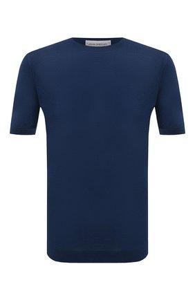 Мужской хлопковый джемпер JOHN SMEDLEY синего цвета, арт. PARK | Фото 1