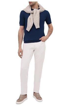 Мужской хлопковый джемпер JOHN SMEDLEY синего цвета, арт. PARK | Фото 2