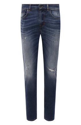 Мужские джинсы 7 FOR ALL MANKIND синего цвета, арт. JSMXB500BS | Фото 1