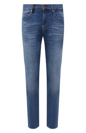 Мужские джинсы 7 FOR ALL MANKIND синего цвета, арт. JSMXB48BLI | Фото 1
