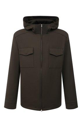 Мужская шерстяная куртка LORO PIANA хаки цвета, арт. FAL6162 | Фото 1