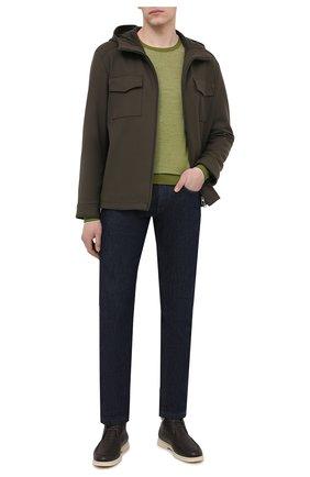 Мужская шерстяная куртка LORO PIANA хаки цвета, арт. FAL6162 | Фото 2