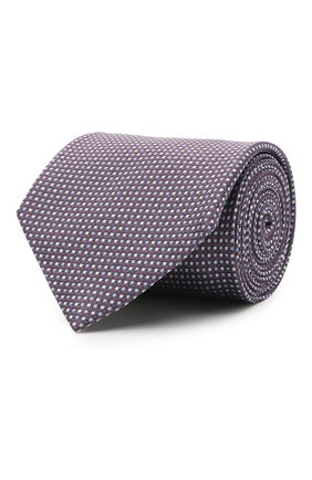 Мужской шелковый галстук BRIONI фиолетового цвета, арт. 062I00/P0446 | Фото 1