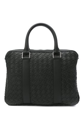 Мужская кожаная сумка для ноутбука BOTTEGA VENETA темно-зеленого цвета, арт. 651580/V0E51 | Фото 1