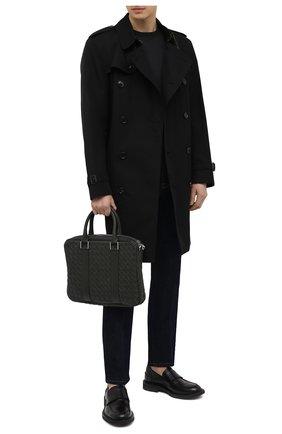 Мужская кожаная сумка для ноутбука BOTTEGA VENETA темно-зеленого цвета, арт. 651580/V0E51 | Фото 2