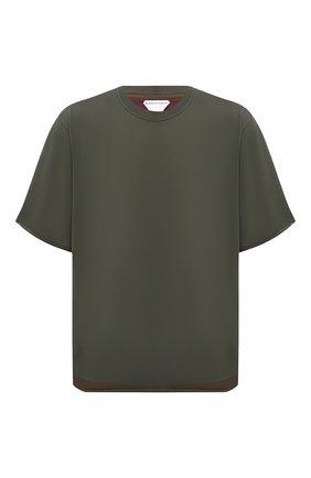 Мужская футболка BOTTEGA VENETA хаки цвета, арт. 647517/VKWC0   Фото 1