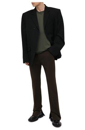 Мужская футболка BOTTEGA VENETA хаки цвета, арт. 647517/VKWC0   Фото 2